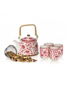 Fleurs - Service à thé